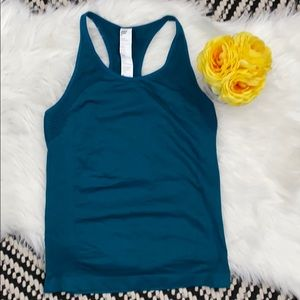 Fabletics athletic  teal racerback fitting tank